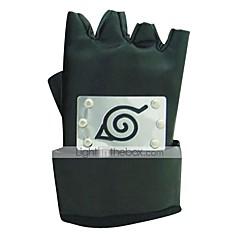 Mănuși Inspirat de Naruto Cosplay Anime Accesorii Cosplay Mănuși Negru PU Piele Bărbătesc / Feminin