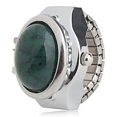 preiswerte Tolle Angebote auf Uhren-Damen damas Ringuhr Japanisch Quartz Armbanduhren für den Alltag Legierung Band Analog Charme Modisch Silber - Weiß Grün