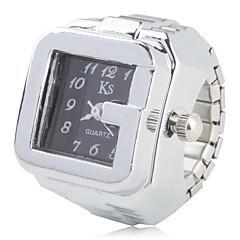 お買い得  大特価腕時計-女性用 リングウォッチ クォーツ カジュアルウォッチ 合金 バンド ハンズ レディース ヴィンテージ ファッション シルバー - ホワイト ブラック 1年間 電池寿命 / SSUO SR626SW