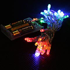 お買い得  LED ストリングライト-3M ストリングライト 30 LED Dip LED マルチカラー 装飾用 単3乾電池 / #