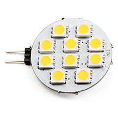abordables Ampoules LED-2700lm G4 Spot LED 10 Perles LED SMD 5050 Blanc Chaud 12V