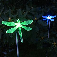 abordables Luces de Exterior-1pc Iluminación de jardín / Luz de grama Cuentas LED LED de Alta Potencia Fácil Instalación / Decorativa Multicolor