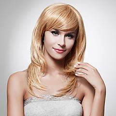 Kapaksız Uzun Yüksek Kalite Sentetik staight sarışın saç peruk