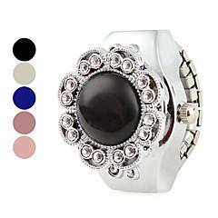 お買い得  レディース腕時計-女性のクリア花合金アナログクォーツリングウォッチ(アソートカラー)