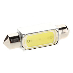 39mm 1.5W 100-120lm White Light LED Pære til Car Instrument / læselampe (12V)