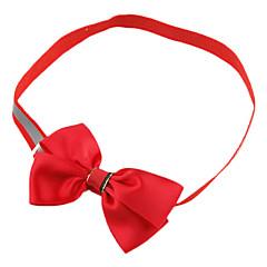 お買い得  犬用首輪/リード/ハーネス-ネコ 犬 カラー 調整可能 / 引き込み式 ボウタイ 繊維 ローズ レッド グリーン ブルー 海軍