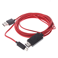 MHL mikro USB hann til HDMI hann til USB hann Adapter kabel for Samsung Galaxy S3 I9300