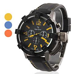 preiswerte Tolle Angebote auf Uhren-V6 Herrn Militäruhr Silikon Band Schwarz