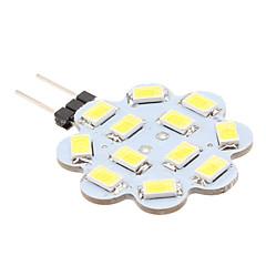 preiswerte LED-Birnen-1.5W 6000lm G4 LED Doppel-Pin Leuchten 12 LED-Perlen SMD 5630 Natürliches Weiß 12V / #
