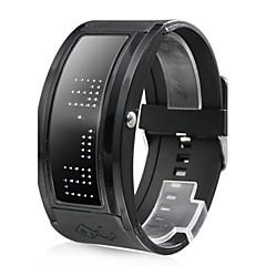 Valkoinen LED musta hihnainen rannekello 10 merkin näytöllä