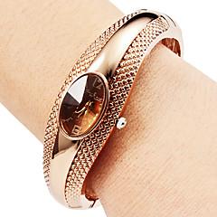 preiswerte Damenuhren-Damen Armband-Uhr Quartz Armbanduhren für den Alltag Legierung Band Analog Freizeit Armreif Modisch Silber / Bronze - Silber Bronze