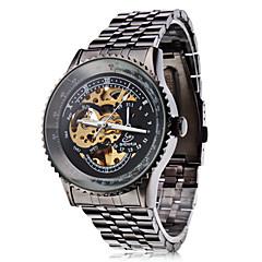 お買い得  ラグジュアリー腕時計-SHENHUA 男性用 スケルトン腕時計 自動巻き 透かし加工 ステンレス バンド ハンズ ブラック