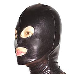 tanie Anime Cosplay-Maska Ninja Zentai Kostiumy Cosplay Black Jendolity kolor Maska Spandex Dla obu płci Halloween