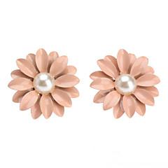 preiswerte Ohrringe-Damen Perle Ohrstecker - Perle Blume, Gänseblümchen nette Art Rosa Für Alltag