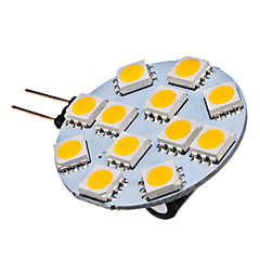 お買い得  LED 電球-G4 1.5W 12x5050SMD 70LM 2700KウォームホワイトLEDスポット電球 (12V)