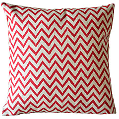 1 pcs Cotton/Linen Pillow Cover,Chevron Country