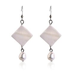 preiswerte Ohrringe-Damen Tropfen-Ohrringe - Perle, versilbert Weiß Für Party Alltag Normal