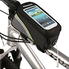 ROSWHEEL Bike Frame Bag Cell Phone Bag 5.3 inch Waterproof Waterproof Zipper Touch Screen Cycling for Iphone 8 / 7 / 6S / 6