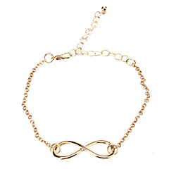 Shixin® Gold Plated Alloy Infinity Charm with an Adjustable String Bracelet  Jewelry Gifts