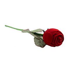 tanie -tekstylia wykonane długo w kształcie róży czerwone pudełko z biżuterią klasyczny styl kobiecy