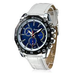 preiswerte Tolle Angebote auf Uhren-Herrn Militäruhr / Armbanduhr Armbanduhren für den Alltag PU Band Charme Schwarz / Weiß / Braun