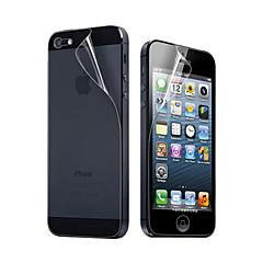 Недорогие Защитные пленки для iPhone SE/5s/5c/5-Защитная плёнка для экрана Apple для iPhone 6s Plus iPhone 6 Plus iPhone SE/5s Защитная пленка для экрана и задней панели HD
