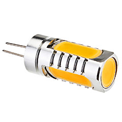 6W G4 LED Bi-pin Lights 4 leds High Power LED Warm White 450-480lm 3000K DC 12V