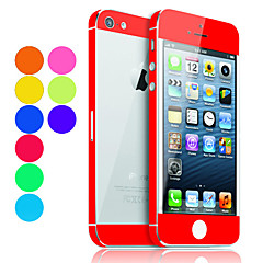 Solide garde de peau de couleur avec Back Protector transparent pour iPhone 5 (Couleurs facultatives)