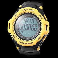 Hombre Reloj Deportivo Digital LCD Calendario Cronógrafo Resistente al Agua Banda Negro Blanco Azul Rojo Verde AmarilloNegro Amarillo