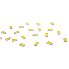 abordables LEDs de Montaje en Superficie (SMD)-SMD 5730 50 lm Chip LED 0.5 W