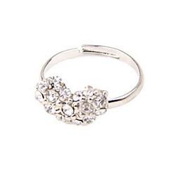 Массивные кольца Стерлинговое серебро Стразы В форме сердца Камни по месяцу рождения Бижутерия Свадьба Для вечеринок Повседневные