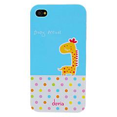 Недорогие Кейсы для iPhone 4s / 4-DEVIA очаровательны мультфильм Жираф и круглых шаблонов точек ПК Жесткий чехол для iPhone 4/4S