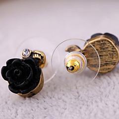 preiswerte Ohrringe-Damen Ohrstecker - Harz Rosen, Blume Weiß / Schwarz / Rot Für Party Alltag