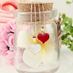 preiswerte Halsketten-Damen Anhängerketten - Herz, Liebe Modisch Weiß, Schwarz, Rot Modische Halsketten Für Party