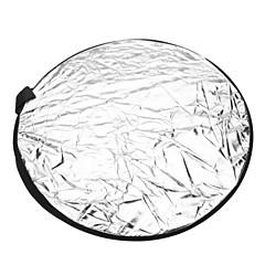 ラウンド5イン1折りたたみ式大型フラッシュリフレクターボード - 5色(56センチメートル直径)