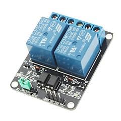 Módulo de relé de 5V 2 canales de alto nivel de activación para (para arduino) (trabaja con oficiales (para Arduino) Tablas)