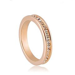 abordables Anillos-aleación de alta calidad 18k chapado en oro con estilo elegante anillo de cristal