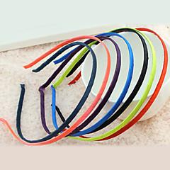 abordables Joyería para el Cabello-Tejido Legierung Diadema Gris Morado Rojo Verde Azul