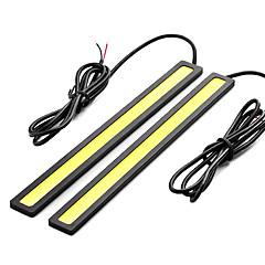 Недорогие Дневные фары-SO.K 2pcs Автомобиль Лампы 7 W COB 400 lm Светодиодная лампа Внешние осветительные приборы