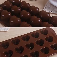 voordelige Bakgerei & Gadgets-15 grids liefde hart patroon siliconen cakevorm bakewares keuken& dining