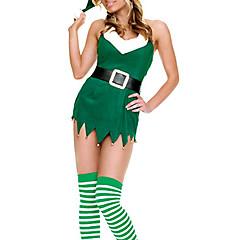 abordables Disfraces de Santa-Disfraces de Santa Disfrace de Cosplay Mujer Navidad Festival / Celebración Disfraces de Halloween Accesorios Retazos