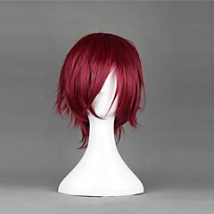 Szerepjáték Parókák Szerepjáték Rin Matsuoka Piros Short Anime Szerepjáték parókák 35 CM Hőálló rost Férfi