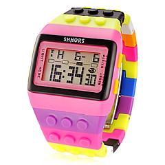 tanie Zegarki damskie-Damskie Zegarek cyfrowy Modny Sportowy Cyfrowe Alarm Kalendarz Chronograf LCD Plastic Pasmo Urok Wielokoloroe