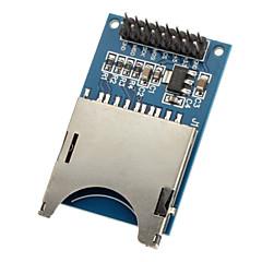 お買い得  モジュール-moduld sdカードモジュールの読み取りと書き込みスロットリーダー(arduino用)mcu