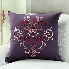 "18""Square Elegant Embroidery Polyester Decorative Pillow Cover"