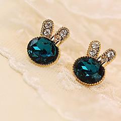 preiswerte Ohrringe-Damen Kristall Ohrstecker - Krystall, Strass, Diamantimitate Grün Für Alltag / Normal