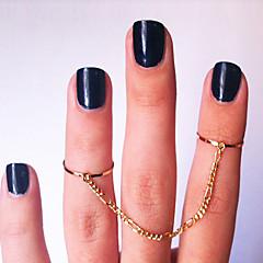 お買い得  指輪-指輪 パーティー / 日常 / カジュアル ジュエリー ゴールドメッキ 女性 関節リング 1個,7