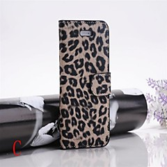 tanie Etui do iPhone 7-Kılıf Na Apple iPhone X iPhone 8 iPhone 8 Plus Etui iPhone 5 Z podpórką Flip Wzór Pełne etui Cętki Twarde Skóra PU na iPhone X iPhone 8