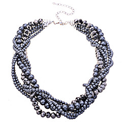Dames Choker kettingen Parelketting Kristal Parel Legering Kostuum juwelen Sieraden Voor Feest Dagelijks
