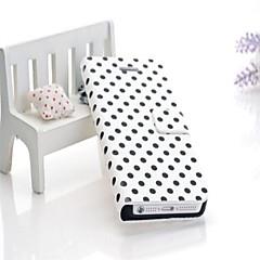 olcso iPhone 5 tokok-luxus mintás pénztárca bőr tok iPhone 5 / 5s